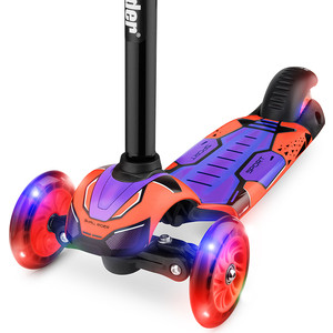Самокат 3 - х колесный Small Rider со свет. колесами Turbo (красный) самокат small rider randy flash со складной ручкой 3 колесный со светящимися колесами цвет мятный