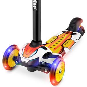 Самокат 3 - х колесный Small Rider со свет. колесами Turbo (оранжевый) самокат small rider randy flash со складной ручкой 3 колесный со светящимися колесами цвет зеленый