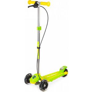 цены Самокат 3 - х колесный Small Rider Galaxy (светящиеся колеса и ручной тормоз) (CZ) (зелено-желтый)