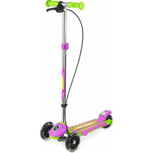 Самокат 3 - х колесный Small Rider Galaxy (светящиеся колеса и ручной тормоз) (CZ) (зелено-фиолетовый)