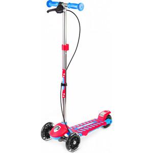 Самокат 3 - х колесный Small Rider Galaxy (светящиеся колеса и ручной тормоз) (CZ) (сине-красный)