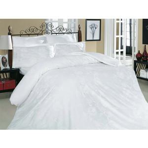 Комплект постельного белья Altinbasak Евро, сатин, Sehrazat белый (255/2/30/CHAR001)