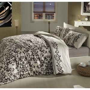 Комплект постельного белья Altinbasak 1,5 сп, ранфорс, Suave коричневый (298/4/CHAR001)