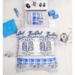 Комплект постельного белья Altinbasak 1,5 сп, ранфорс, Molly голубой (298/43/CHAR001) комплект постельного белья altinbasak 1 5 сп ранфорс athletik голубой 298 42 char001