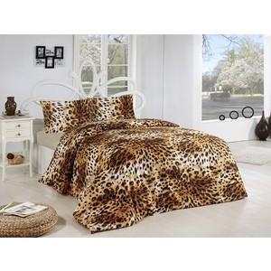 Комплект постельного белья Altinbasak 1,5 сп, ранфорс, Leopar коричневый (298/52/CHAR001)