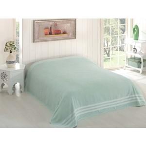купить Простыня Karna махровая Petek 200x220 см зеленый (2637/CHAR004) по цене 1555.5 рублей