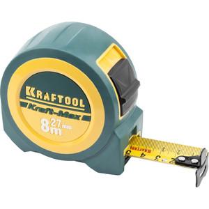 Рулетка Kraftool Kraft-Max 8м/27мм (34127-08-27) рулетка kraftool kraft max 8м 27мм 34127 08 27