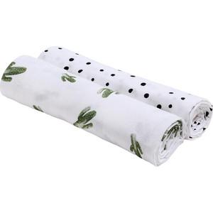 Пеленка Bebe Au Lait Пеленки Bamboo Muslin 2 шт. Saguaro/Dottie 2 colors reversible muslin