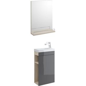 Мебель для ванной Cersanit Smart 40 корпус ясень, фасад серый мебель ясень официальный сайт