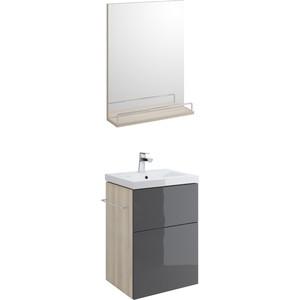 купить Мебель для ванной Cersanit Smart 50 корпус ясень, фасад серый недорого