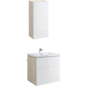 Мебель для ванной Cersanit Smart 80 корпус ясень, фасад белый