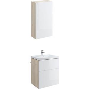 Мебель для ванной Cersanit Smart 70 корпус ясень, фасад белый