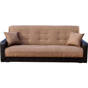 Диван Экомебель Лондон рогожка коричневая диван экомебель лондон рогожка микс коричневая