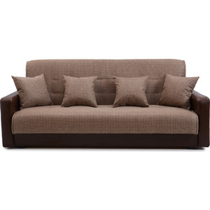 Диван Экомебель Лондон рогожка микс коричневая диван экомебель лондон рогожка микс коричневая