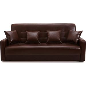 Диван Экомебель Аккорд темно-коричневый