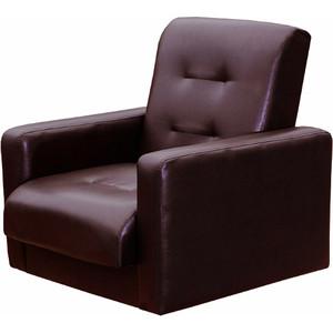 Кресло Экомебель Аккорд экокожа коричневая