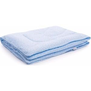 Одеяло Vikalex бязь, холлофайбер 110х140, голубой с бантиками (Vi21105) фото
