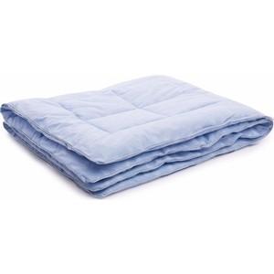 Одеяло Vikalex тик, бамбук 110х140, голубой с белыми перьями (Vi21102)