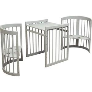 цена на Кроватка трансформер Vikalex 8 в 1 Паулина С-322, серый С-322-53