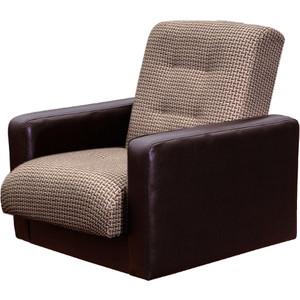 Кресло Экомебель Лондон рогожка микс коричневая. цена