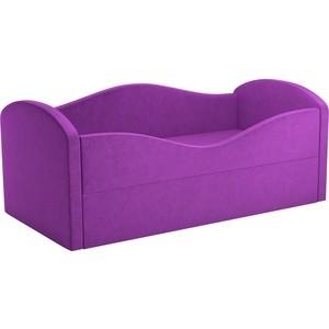 Детская кровать Мебелико Сказка вельвет фиолетовый