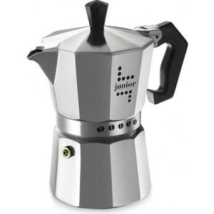 Гейзерная кофеварка Bialetti Junior, 5982, 3 п кофеварка гейзерная bialetti moka induzione 3 порции сталь 4922