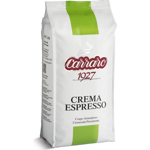 Кофе в зернах Carraro Caffe Crema Espresso, вакуумная упаковка, 1000гр цена и фото