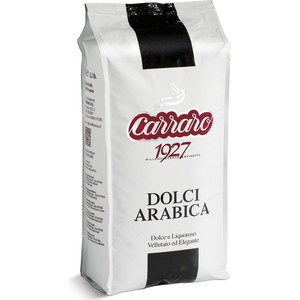 Кофе в зернах Carraro Caffe Dolci Arabica, вакуумная упаковка, 1000гр цена и фото