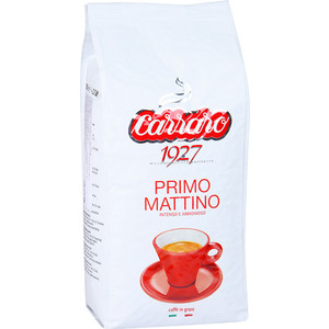 Кофе в зернах Carraro Caffe Primo Mattino, вакуумная упаковка, 1000гр