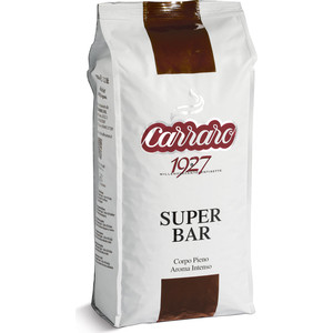 Кофе в зернах Carraro Caffe Super Bar, вакуумная упаковка, 1000гр цена и фото