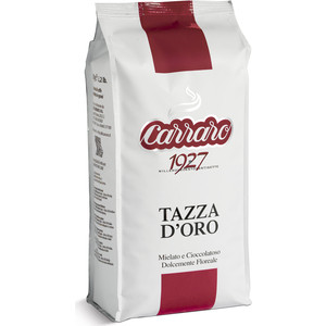 Кофе в зернах Carraro Caffe Tazza D'Oro, вакуумная упаковка, 1000гр цена и фото