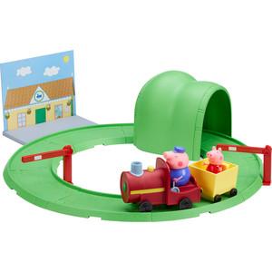 Игровой набор Росмэн Свинка Пеппа Паровозик с туннелем 8 предметов (33847)