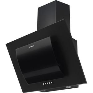 Вытяжка MAUNFELD TOWER ROUND 60 черный/черное дугообразное стекло вытяжка maunfeld tower cs 60 60см 620куб нерж черн стекло