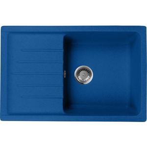 цена Кухонная мойка AquaGranitEx M-27 (323) синий онлайн в 2017 году