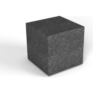 Декоративная фигура Flox Куб черный гранит (390х 385х 385)