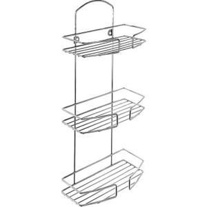 Полка-решетка Milardo трехъярусная прямая, нержавеющая сталь (013W030M44)
