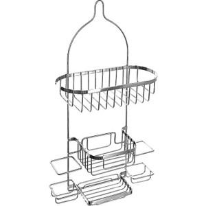 Полка-решетка Milardo навесная, двухярусная, с мыльницей, нержавеющая сталь (014W050M44)