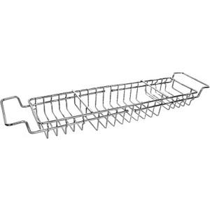 Полка-решетка Milardo между бортов ванны, нержавеющая сталь (102W000M44) полка решетка milardo угловая нержавеющая сталь 206wc00m44