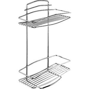 Полка-решетка Milardo двухъярусная прямая, нержавеющая сталь (212W020M44)