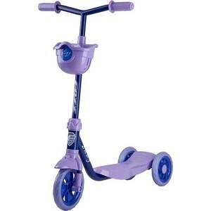 Самокат городской FOXX Baby с пластиковой платформой и EVA колесами 115мм корзинка ультрамари