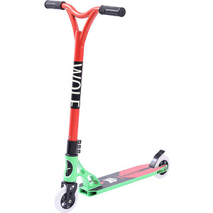 Самокат трюковый NOVATRACK WOLF max 100кг 8+ алюмин.колеса 100 м самокат трюковый novatrack wolf детский 2 колесный 100a wolf gn8 зеленый красный