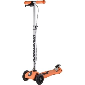 Самокат-кикборд NOVATRACK RainBow подростковый ручной тормоз свет.колеса max 60кг оранжевый 126