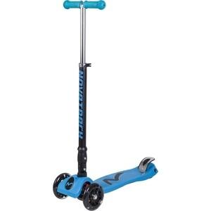 Самокат-кикборд NOVATRACK RainBow подростковый складной свет.колеса max 60кг голубой 126184