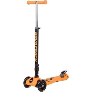 Самокат-кикборд NOVATRACK RainBow подростковый складной свет.колеса max 60кг оранжевый 126183