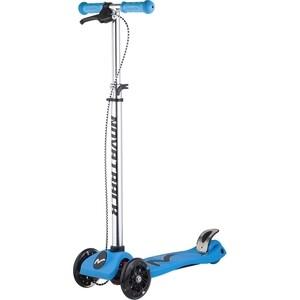 Самокат-кикборд NOVATRACK RainBow подростковый ручной тормоз свет.колеса max 60кг голубой 126189