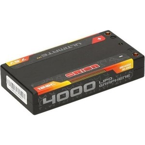 Аккумулятор Team Orion Batteries Ultimate Graphene HV Lipo 7.6 V (2s) 4000mAh 120C Hard Case Tubes - ORI14502 аккумулятор team orion carbon sport lipo 7 4 v 2s 45c 1800 mah ori14181