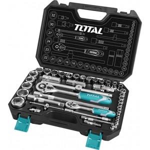 Набор торцевых головок и бит TOTAL 1/2 1/4 44 предмета (THT421441)