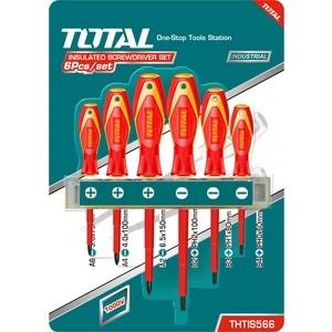 Набор отверток диэлектрических TOTAL до 1000В, 6шт (THTIS566) набор отверток topex 39d674 1000в 8шт