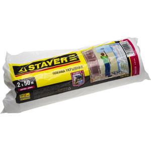 Пленка укрывочная Stayer Master HDPE в рулоне 12 мкм 2 х 50 м (1225-15-50)