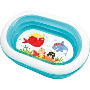 Детский надувной бассейн Intex 163х107х46см Пираты 230л (57482NP) intex детский надувной бассейн зоопарк intex